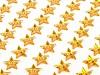 Öntapadós csillagok ragasztószalagon Ø10 mm