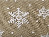Vánoční imitace juty šíře 48 cm vločky