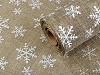 Vianočná imitácia juty šírka 48 cm s glitrami