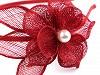 Fascinátor / čelenka květ s perlou