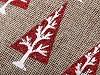 Dárkový vánoční pytlík 13x18 cm imitace juty