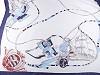 Saténová šála námořnická 90x170 cm