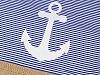 Vak na záda námořnický kotva 32x42 cm