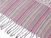 Šála typu pashmina s třásněmi 65x170 cm