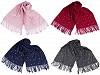 Šátek / šála typu pashmina s perlami a třásněmi 65x180 cm