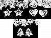 Drevená vianočná hviezda, srdce, stromček