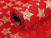 Vánoční imitace juty šíře 48 cm hvězdy