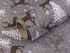 Dekorační metráž šíře 48 cm jelen, stromeček