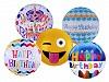Nafukovací balónek velký Happy Birthday, smajlík
