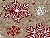 Vánoční dárkový pytlík vločky s glitry 13x18 cm imitace juty