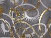 Dárkový pytlík 13x18 cm organza s ornamenty