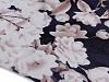 Saténová šála květy 90x180 cm