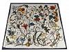 Saténový šátek květy 90x90 cm