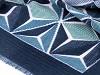 Šál teplý s geometrickým vzorom 65x190 cm