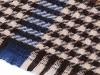 Velký teplý šátek / pléd s třásněmi 125x125 cm