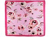 Saténová šatka kvety 70x70 cm