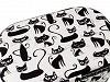 Kazeta / košík na šití čalouněný kočka