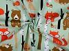 Bavlnená látka líšky v lese