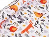 Dzianina dresowa nieczesana zwierzątka - lis, szop, ptaszek