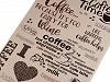 Bavlněné vaflové piké káva