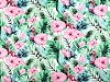 Tkanina bawełniana kwiaty / flamingi
