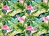 Pamut anyag virág, flamingó