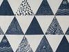 Bavlnená metráž / imitácia ľanu hrubšia trojuhoľníky
