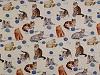 Dekorační látka Loneta pes, kočka