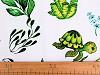 Bavlnená látka korytnačka