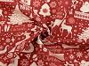 Tkanina dekoracyjna Loneta motyw świąteczny