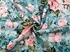Dzianina dresowa bawełniana nieczesana z nadrukiem cyfrowym róże