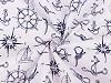 Bavlnená látka námornícky vzor