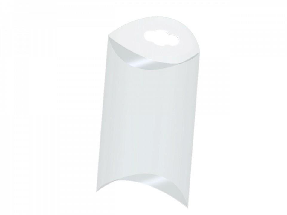 Plastová krabička k zavěšení 5x8,5 cm 10 ks