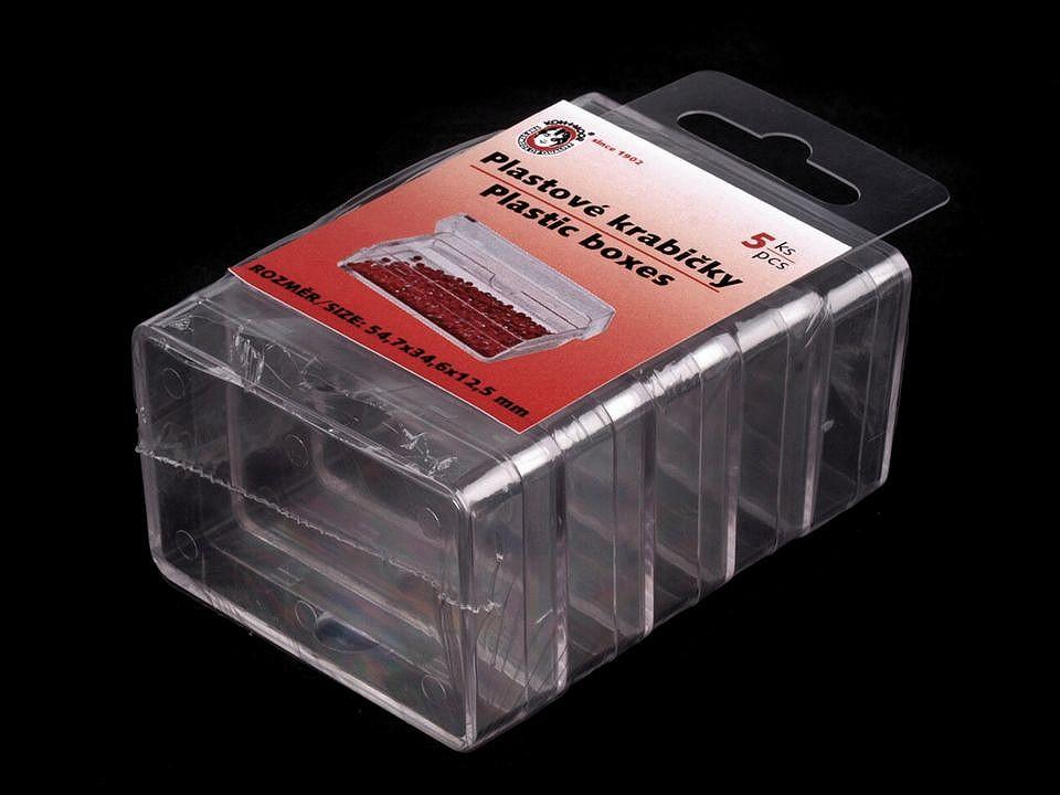 Plastové krabičky 3,7x5,7x1,5 cm 30 ks