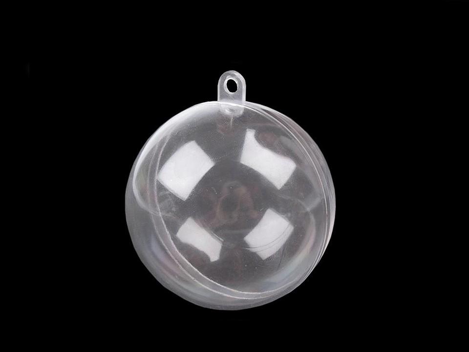 Plastová koule Ø6 cm dvoudílná 12 ks