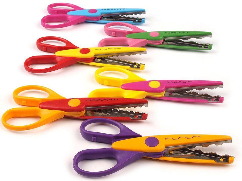 Nůžky dětské délka 13 cm sada 6 ks na blistru 1 ks