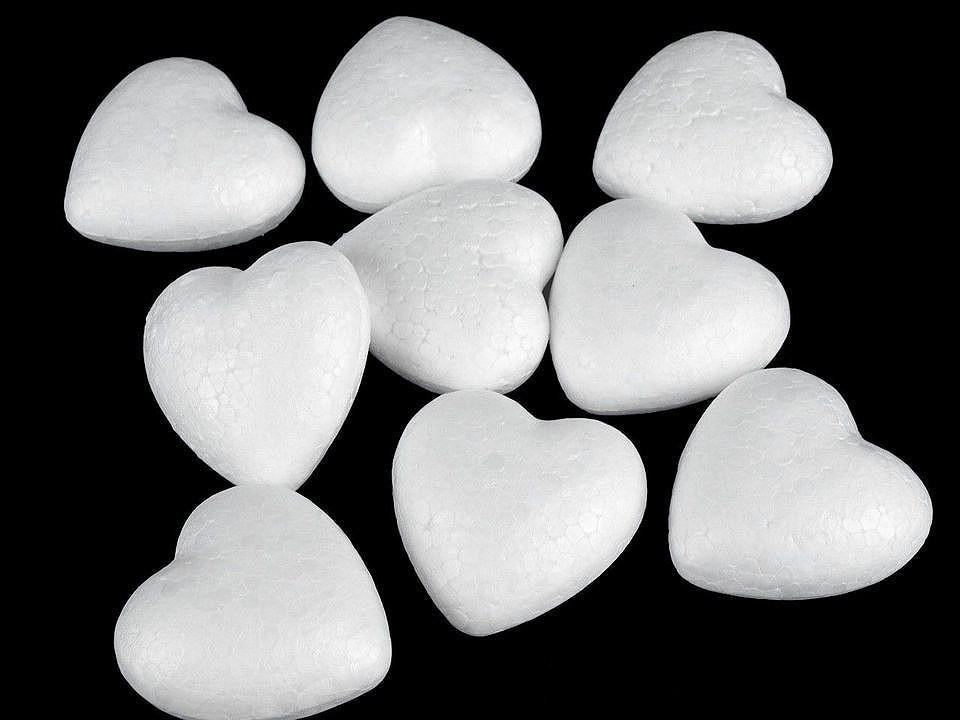 Srdce 4,4x4,7 cm polystyren 100 ks