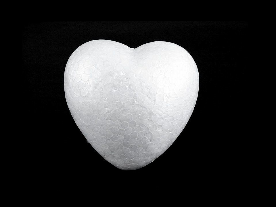 Srdce Ø10 cm polystyren 2 ks
