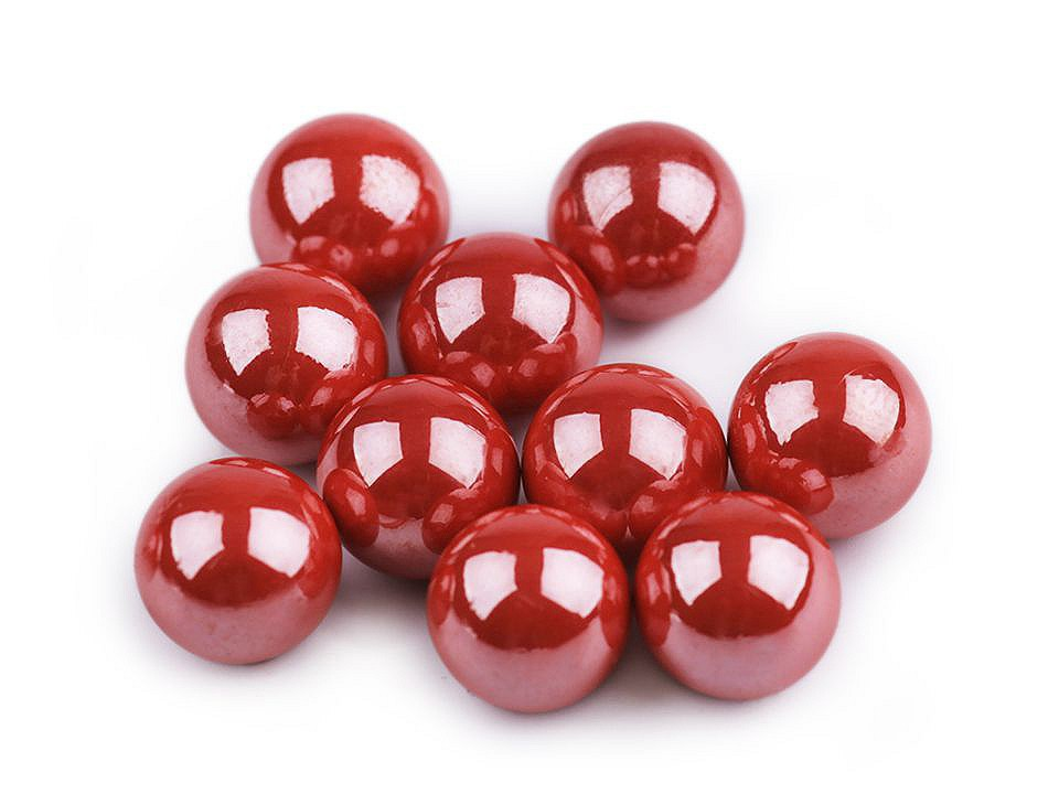 Dekorační kuličky / perly bez dírek Ø8 mm lesklé 10 ks