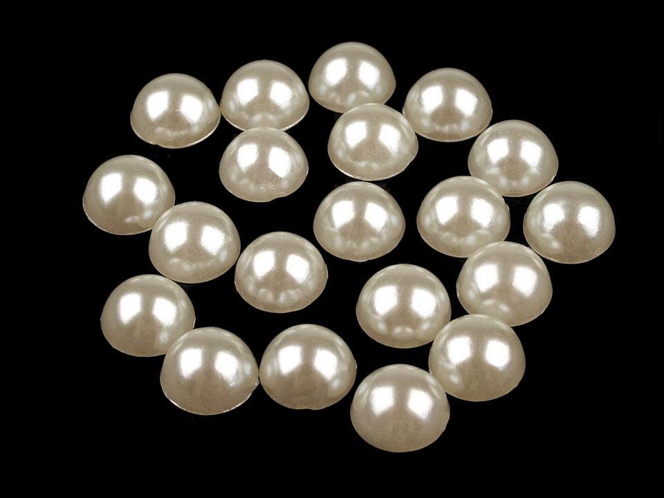 Půlperle / perly k nalepení Ø9 mm 20 ks