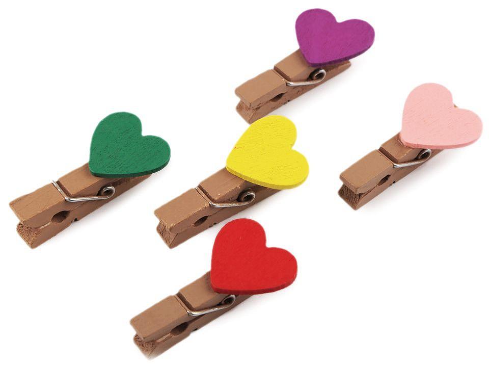 Kolíčky srdce 1 ks