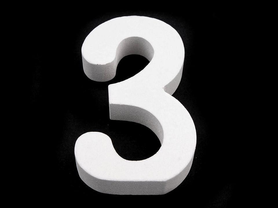 3D dekorace číslice, otazník, vykřičník výška 8 cm 1 ks