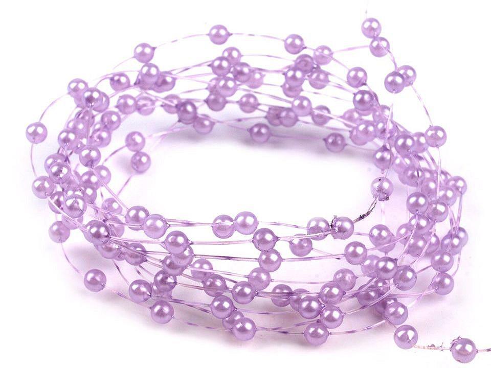 Perličky na silonu Ø2-3 mm 30 ks