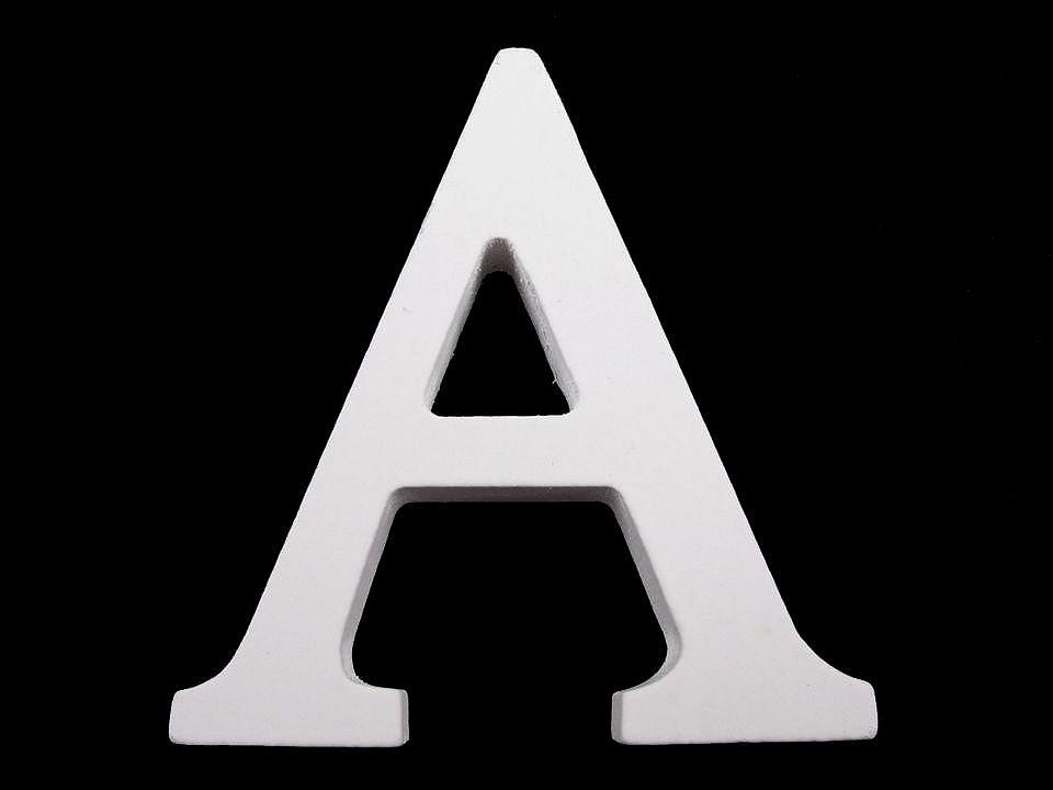Dřevěná dekorace písmena abecedy 1 ks