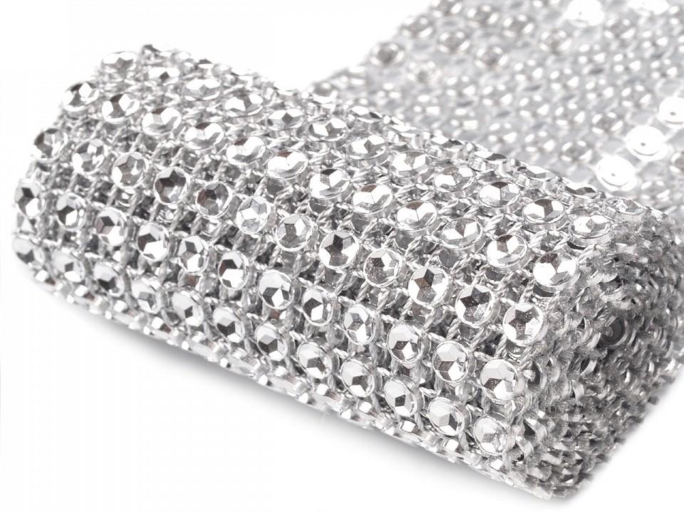 Diamantový pás / borta šíře 58 mm 9 ks
