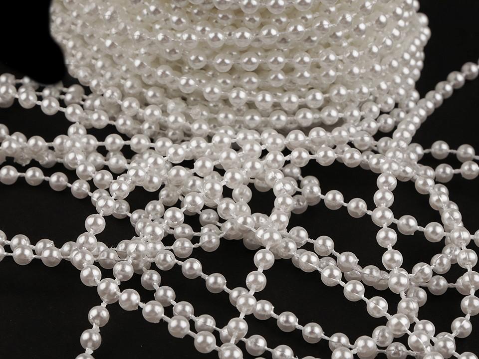 Perlový řetěz Ø4 mm 24 ks
