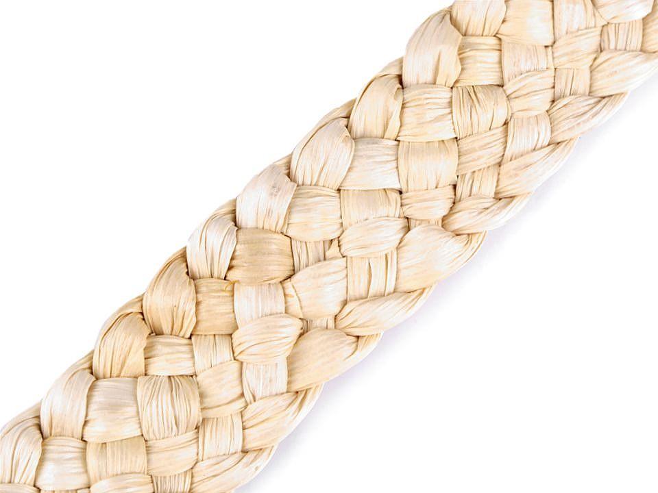 Splétané kukuřičné šustí / popruh šíře 30-35 mm 1 ks