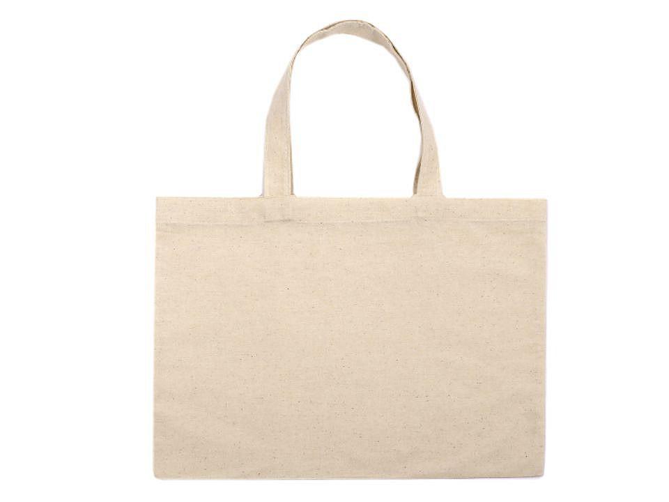 Textilní taška bavlněná k domalování / dozdobení 38x30 cm 1 ks
