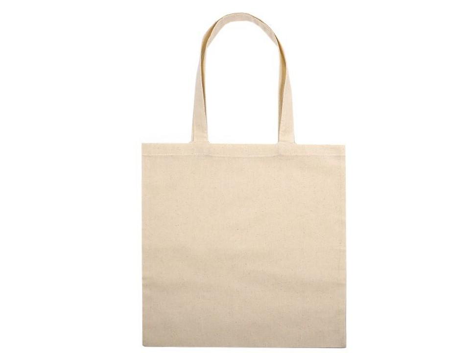 Textilní taška bavlněná k domalování / dozdobení 34x39 cm 1 ks