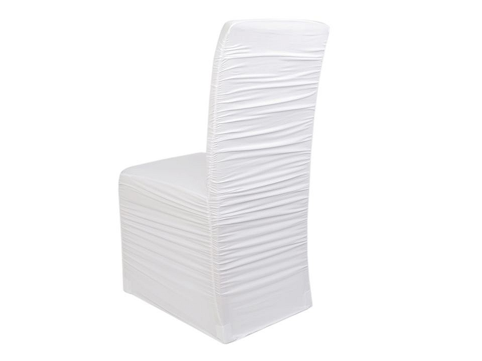 Elastický návlek na židle  řasený 1 ks